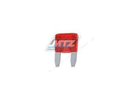 Pojistka nožová - 10A 12V (farba červená) - prevedenie MINI