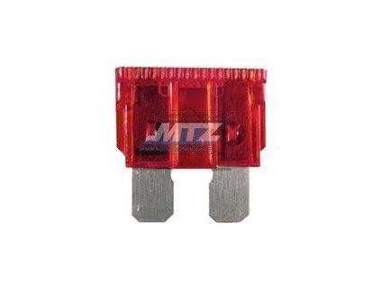 Pojistka nožová - 10A 12V (farba červená)