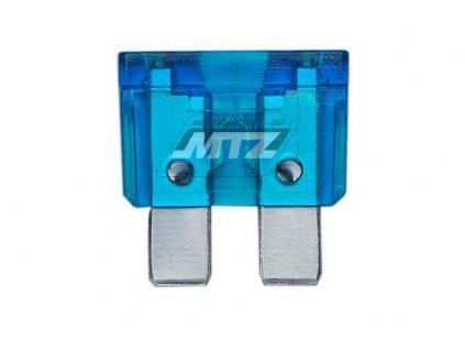 Pojistka nožová - 15A 12V (farba modrá)