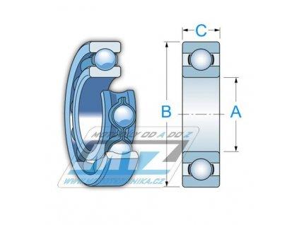 Ložisko 16004-C3 (rozmery: 20x42x8mm) KTM