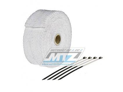 Páska izolační na výfuk 50mm / návin 10m (750°C) - biela