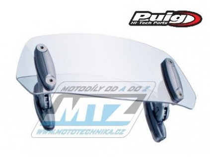 Deflektor univerzál na plexi štít PUIG Multi-Adjustable (rozmery 90x230mm) - čirý