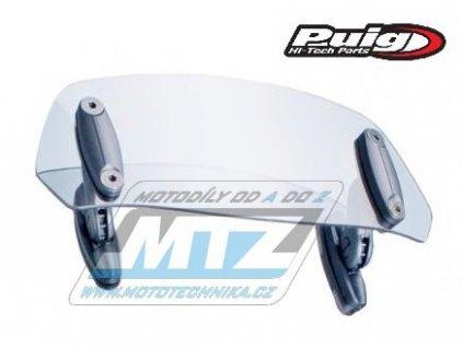 Deflektor univerzál na plexi štít PUIG Multi-Adjustable (rozmery 100x277mm) - čirý