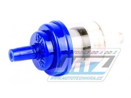 """Filter palivový/benzínový - priemer 1/4"""" (6mm) - plastový - modrý"""