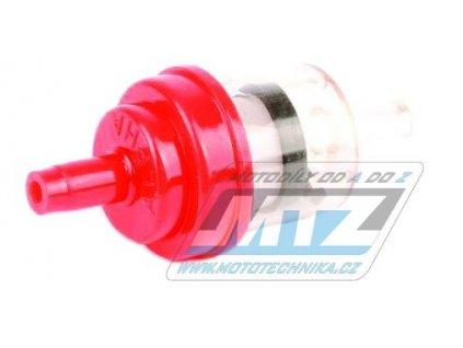 """Filter palivový/benzínový - priemer 1/4"""" (6mm) - plastový - červený"""