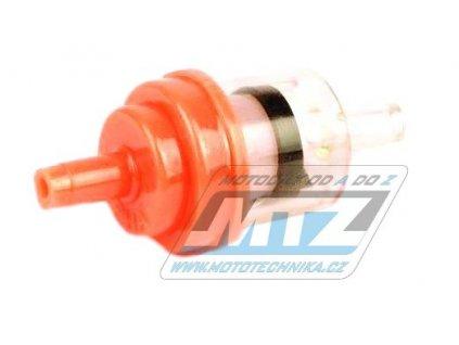 """Filter palivový/benzínový - priemer 1/4"""" (6mm) - plastový - oranžový"""