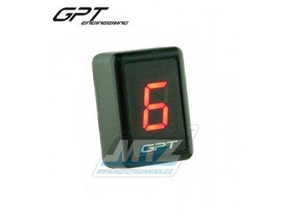 Ukazatel zařazené rychlosti digitální GPT GI1001 (červený)