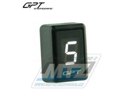 Ukazatel zařazené rychlosti digitální GPT GI1001 (biely)