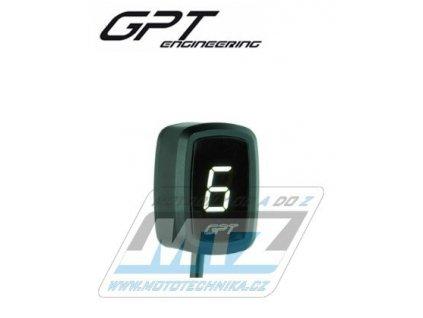 Ukazatel zařazené rychlosti digitální GPT EVO1 (biely)