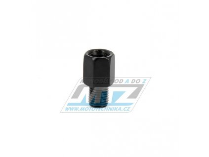 Adaptér spätného zrkadla 10mm Pravý závit vonkajší / 10mm Ľavý závit vnútorný (farba čierna)