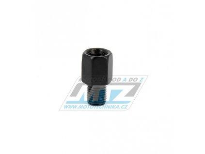 Adaptér spätného zrkadla 8mm Pravý závit vonkajší / 8mm Pravý závit vnútorný (farba čierna)
