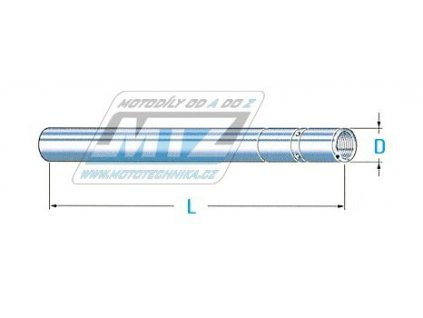 Trubka přední vidlice 31x612mm - Honda CBR125 / 11-16