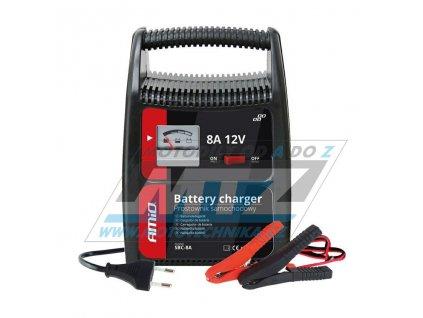 Nabíječka Auto/Moto 12V 8A (pro kyselinové/olověné baterie)