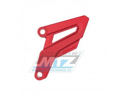 Kryt řetězového kolečka ZETA - Honda CR250 / 02-07 + CRF250R / 04-09 + CRF250X + CRF450R / 08 + Yamaha YZ125 / 05-21 - červený