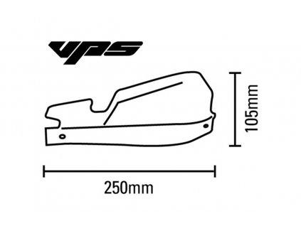 Barkbusters VPS MX/Enduro kryty rúk KIT - čierne s bialy nápisom