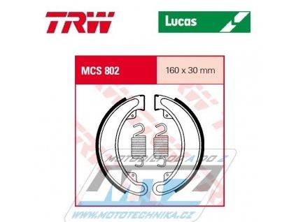 Brzdové obloženie (čeľuste) TRW Lucas MCS802 - Honda CB250G + CJ250T + TRX300FW Fourtrax + CB350F Four + CB350K + CB360G + CJ360T + CB400F Four
