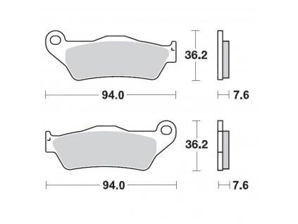 Predné brzdové platničky Moto-Master Nitro Sport
