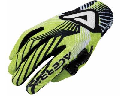 Motokrosové rukavice ACERBIS MX-X3 - zelená, veľ. S