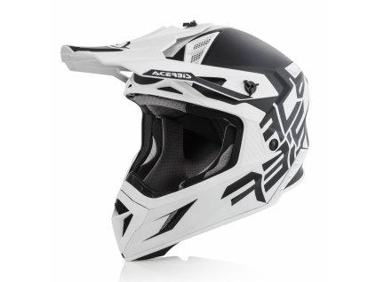 Motokrosová prilba ACERBIS X-PRO VTR - čierna/biela
