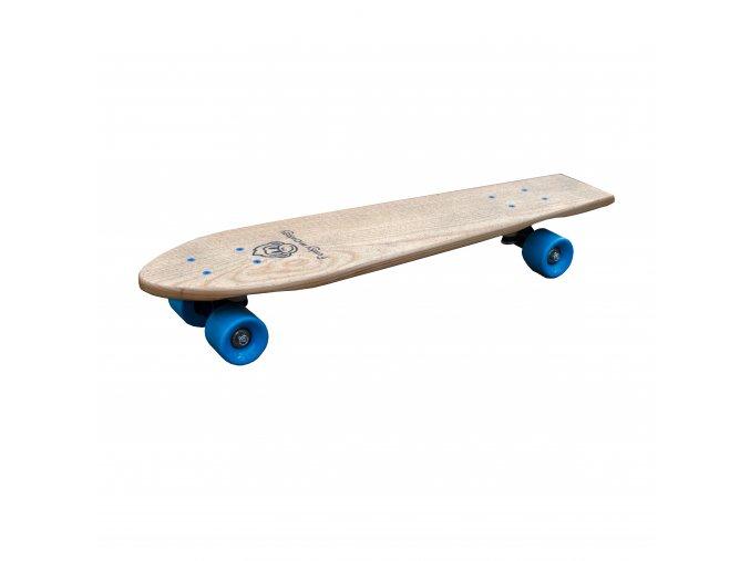 Dřevěný skateboard pro děti Funky Blue Board