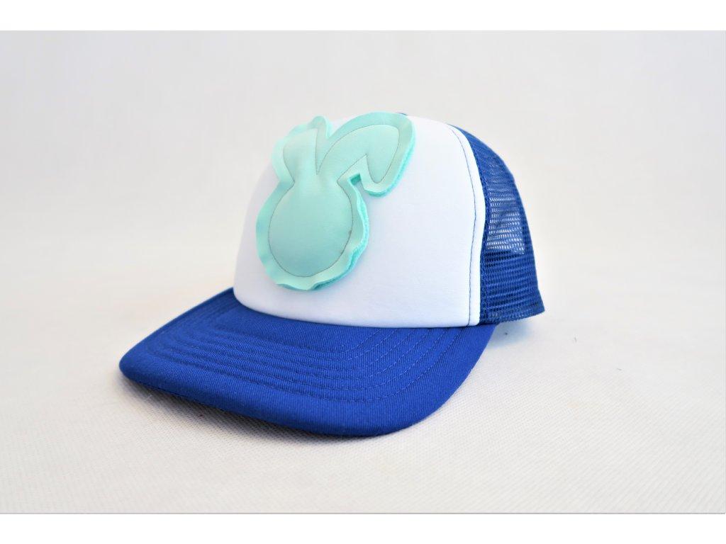 45bbf2efc Šiltovka zajac - kráľovská modrá mint - FunnyBunny