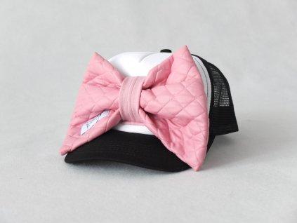 Šiltovka s mašľou - čierna/ružová