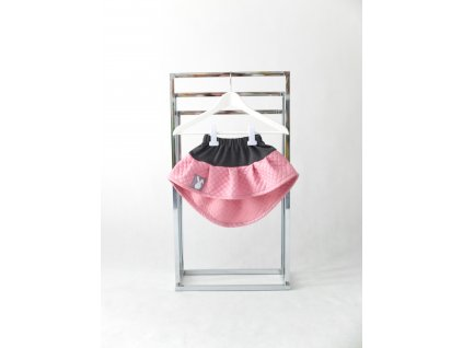 Pískacia sukňa tmavosivá/ružový šušťák