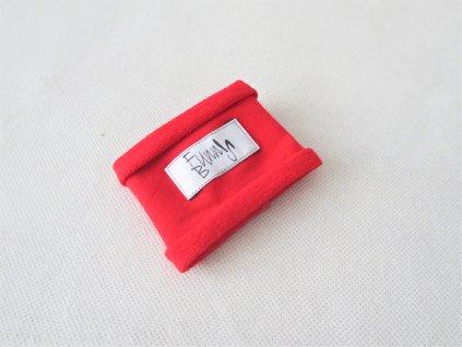 Látkový náramok červený