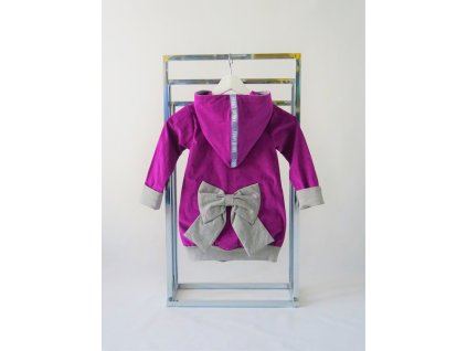 Pískací kabátik kordový purpurový