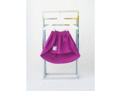 Úzka sukňa s vlečkou kordová purpur