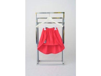 Úzka sukňa s vlečkou kordová sýta ružová