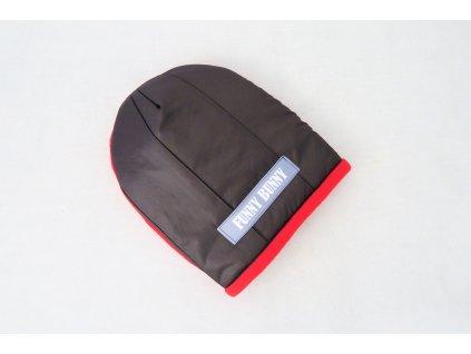 Zimná pískacia čiapka čierna