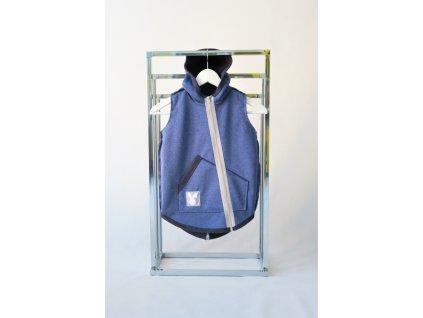 Pískacia softshellová vesta riflová-modrá