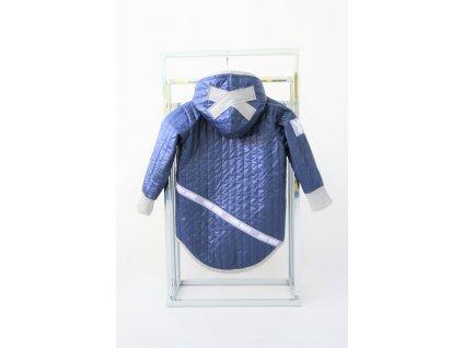 Jarná pískacia bunda s krížikom modrá