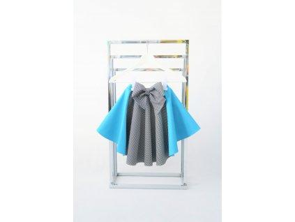 Točivá pískacia sukňa modrá
