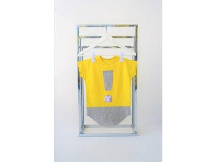 FunnyBunny predĺžené tričko s výkričníkom - žltá