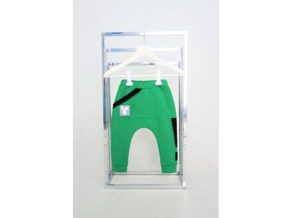 Pískacie tepláky s výkričníkom - zelené