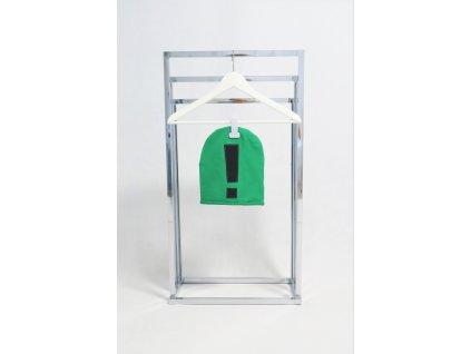 Pískacia šmolko čiapka s výkričníkom - zelená