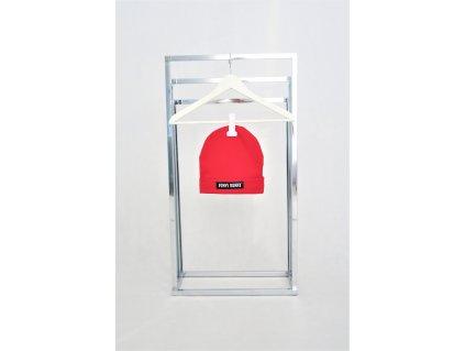 Pískacia skate čiapka s lemom - červená