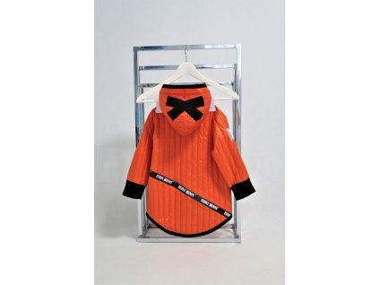 Prechodná pískacia bunda s krížikom červený pomaranč/čierna