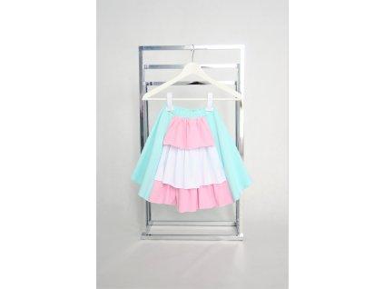 Španielska pískacia sukňa mint