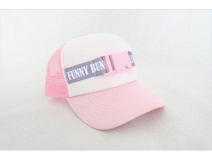 Pracková šiltovka ružová/sivá