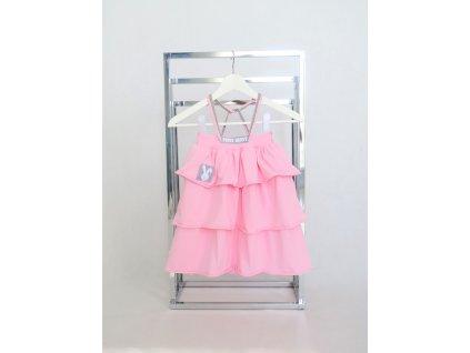 Pískacie sukňo-šaty ružová