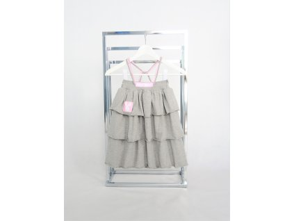 Pískacie sukňo-šaty sivá