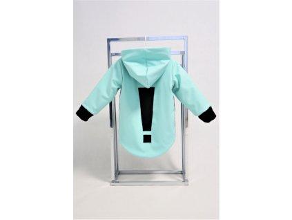 Zimná bunda s výkričníkom mint/čierna