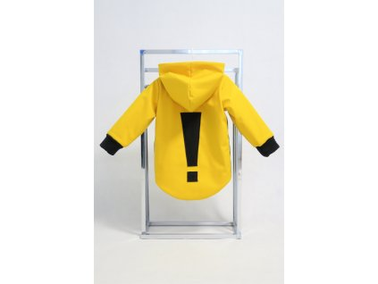 Zimná bunda s výkričníkom žltá/čierna
