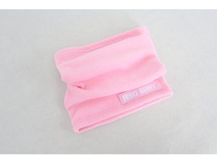 Nákrčník flisový baby ružová/ružová