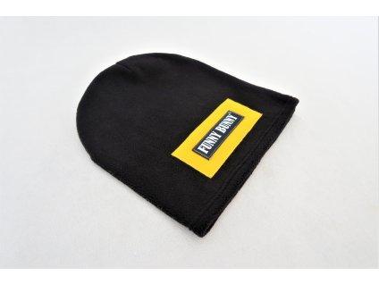 Pískacia flisová čiapka čierna/žltá