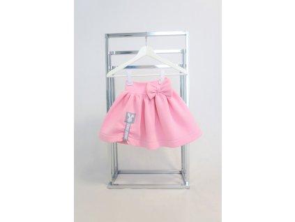 Pískacia vatičková sukňa ružová