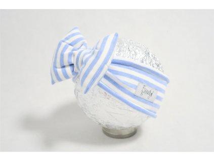 Pískacia čelenka sv. modrý pásik